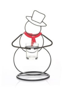 metal snowman votive holder